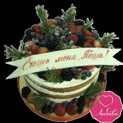 Торт на день рождения ягодный для мужчины №1940