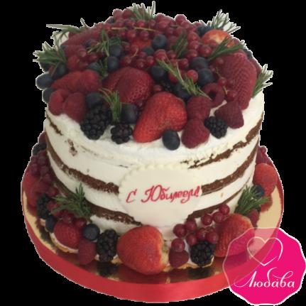 Торт на юбилей с ягодами №1941