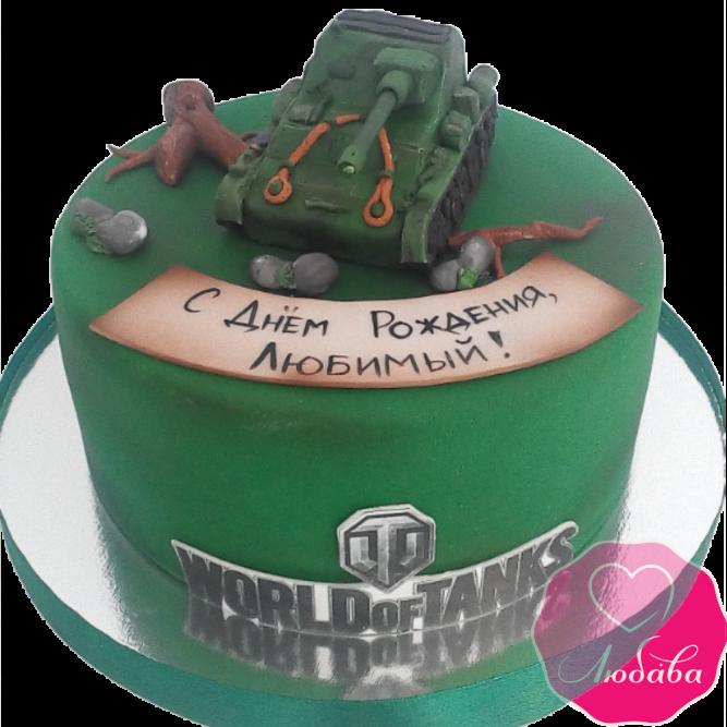 Торт на день рождения World of tanks №1944