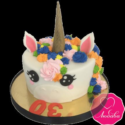 Торт на день рождения единорог №1954