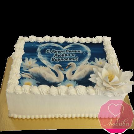 Торт праздничный с днем семьи, любви и верности №1955