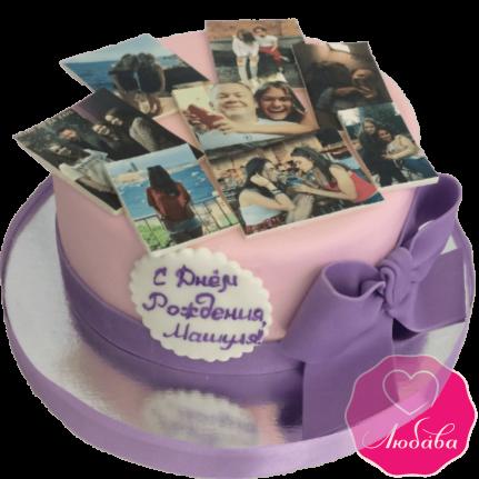 Торт на день рождения с фото №1957