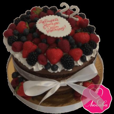 Торт на день рождения ягодный №1968