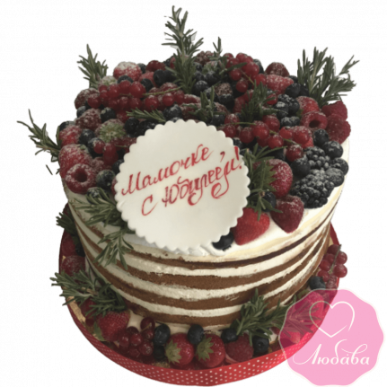 Торт на день рождения ягодный маме №1972