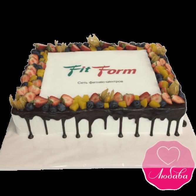 Торт корпоративный Fit form №1975