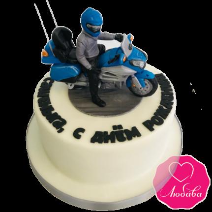Торт на день рождения для мотоциклиста №1983