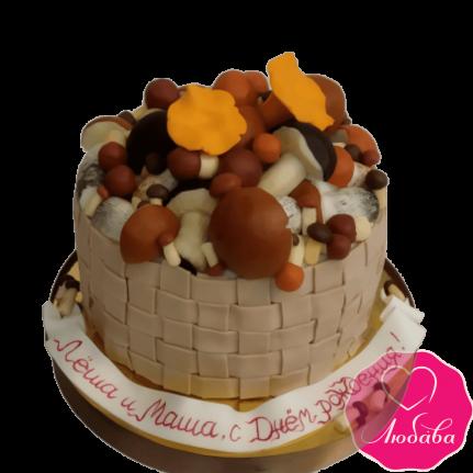 Торт на день рождения для грибников №1984