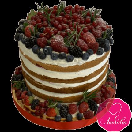 Торт свадебный с ягодами №2003
