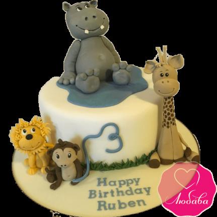 Торт со зверями №2010