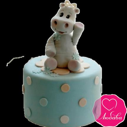 торт детский с бегемотиком №2011