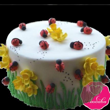 Торт с божьими коровками №2013
