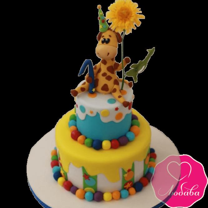 Торт с жирафом №2015