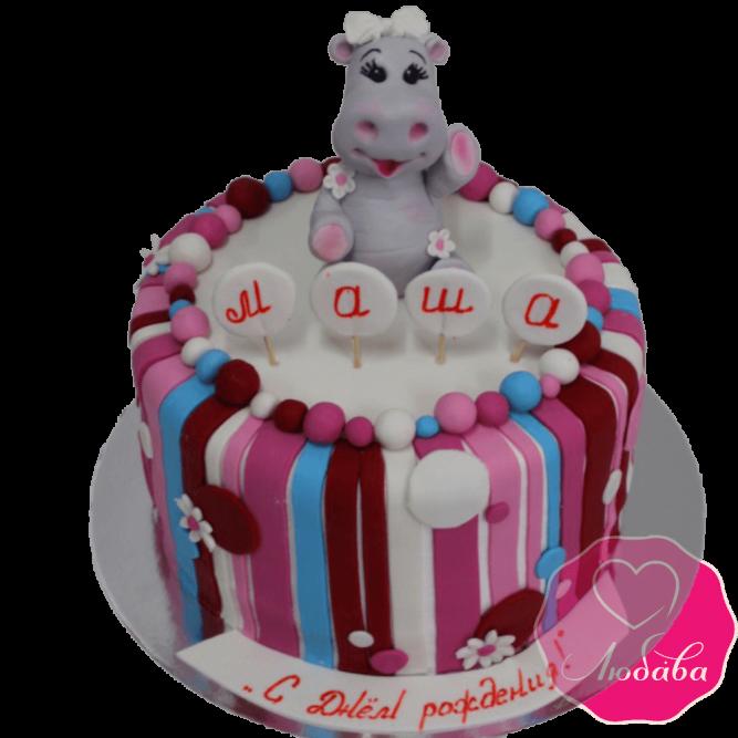 Торт с бегемотиком №2019