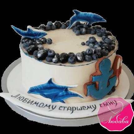 торт детский дельфины №2031