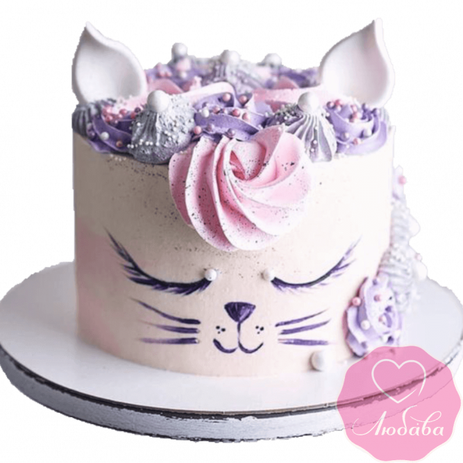 торт детский кошечка №2036