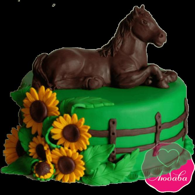 торт детский с лошадью №2038