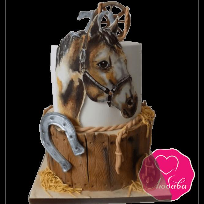 торт детский с лошадкой №2041