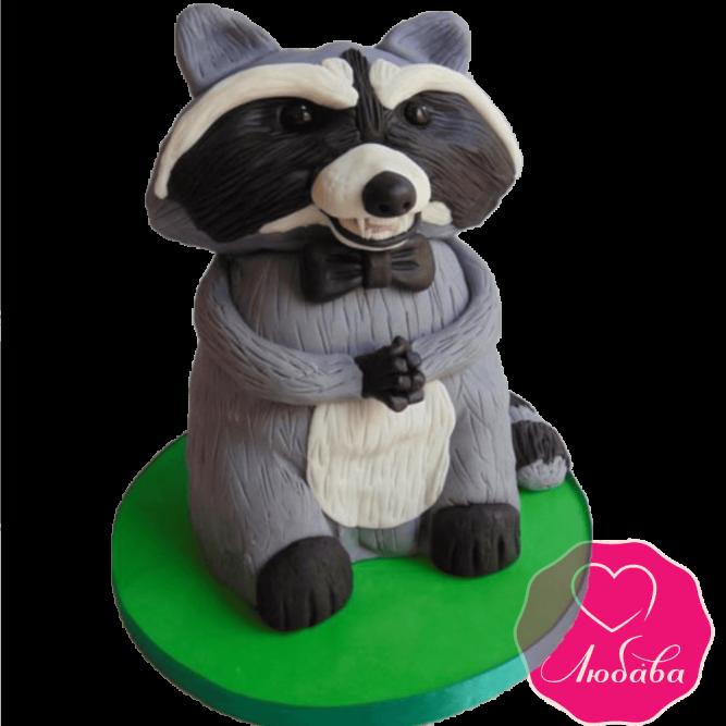 торт детский с енотом №2046