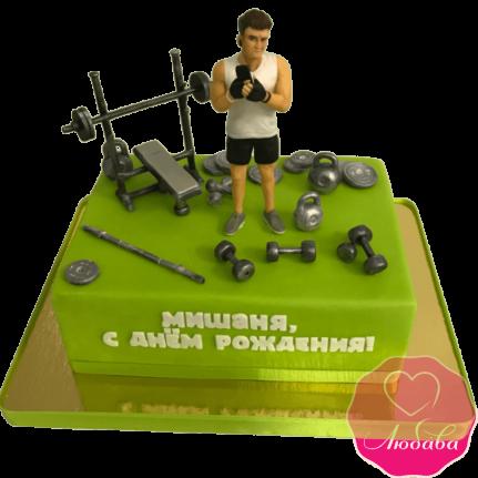 торт на день рождения для фитнес атлета №2050