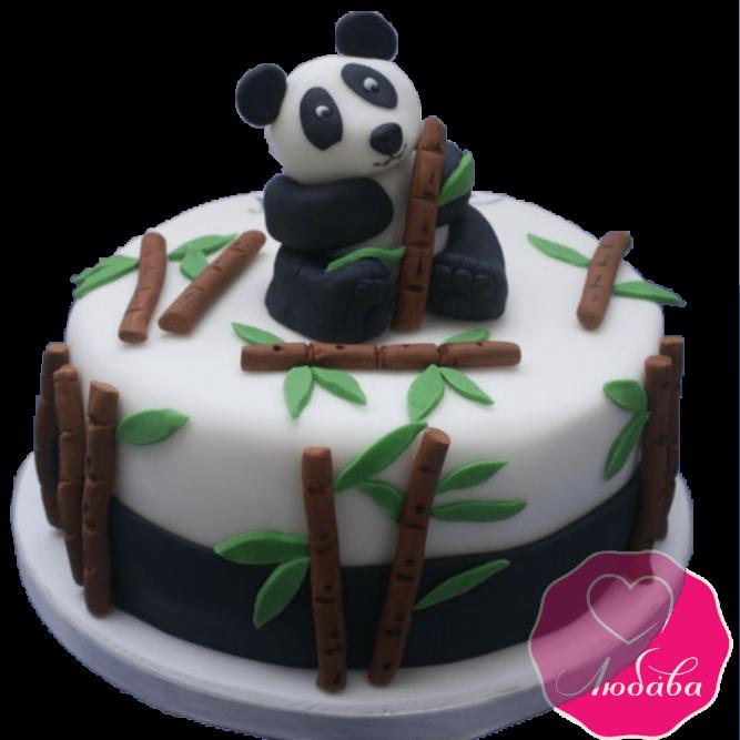 торт детский с пандой №2056