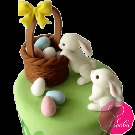 торт детский зайцы №2061