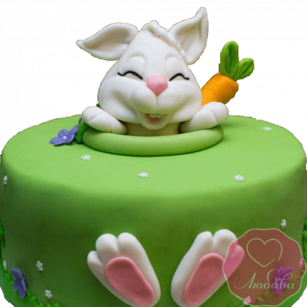 торт детский заяц с морковкой №2062