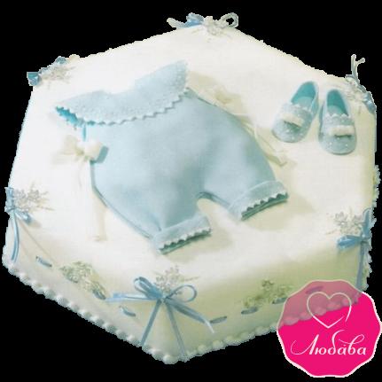 Торт детский на крещение новорожденного креативный №2066