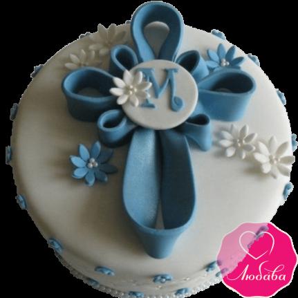 торт детский на крещение ребенка оригинальный №2073