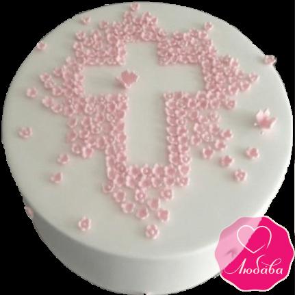 торт детский на крестины круглый №2079