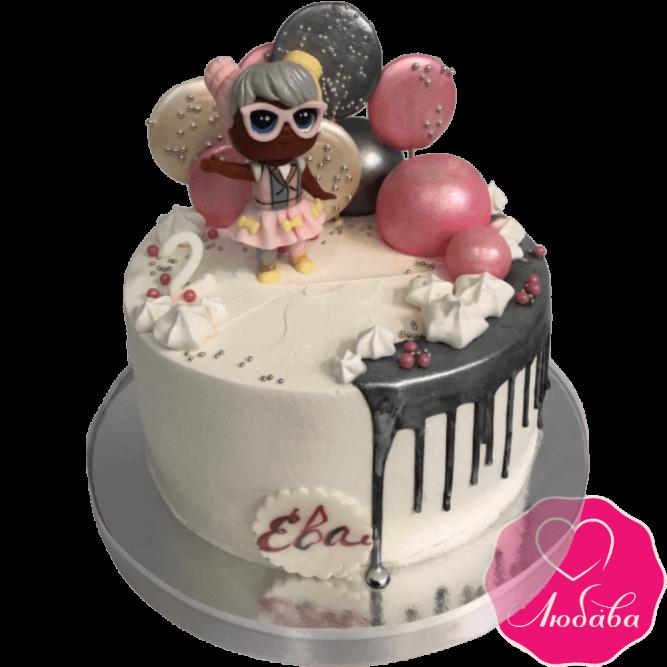 Красивый торт с куклой №2083
