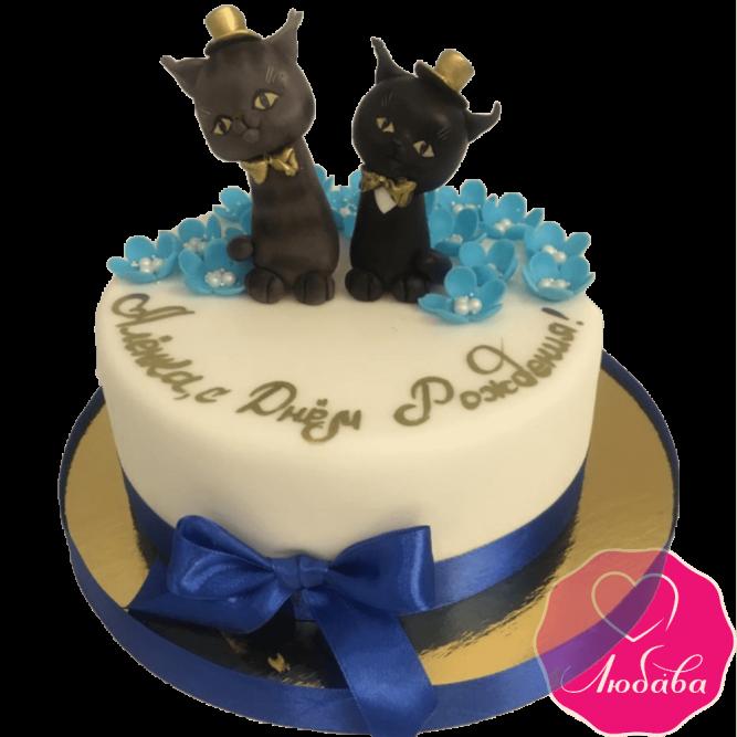 торт детский с кошками необычный №2098