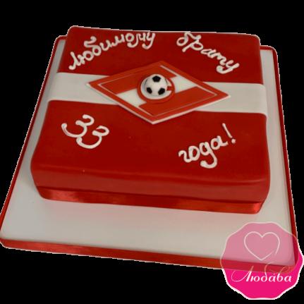 торт на день рождения спартак квадратный  №2099