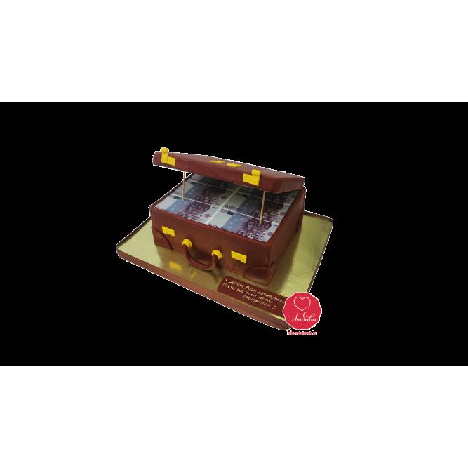 Торт Чемодан с 500 евро №1028