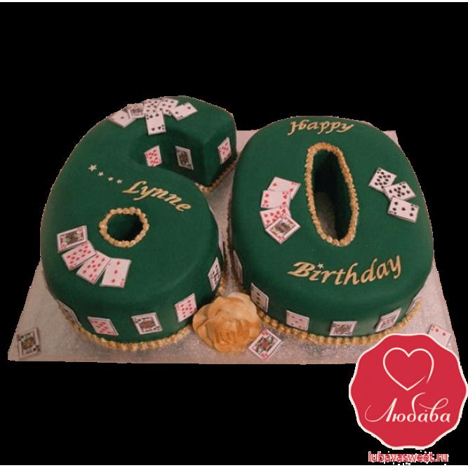 Торт на 60 лет казино №826