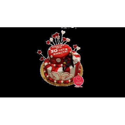 Торт на годовщину с фигурками №917