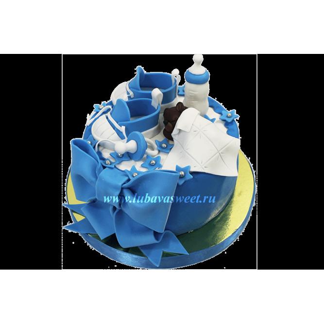 Торт на рождение ребенка №641