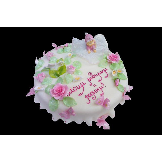 Торт Малышка и цветы №358