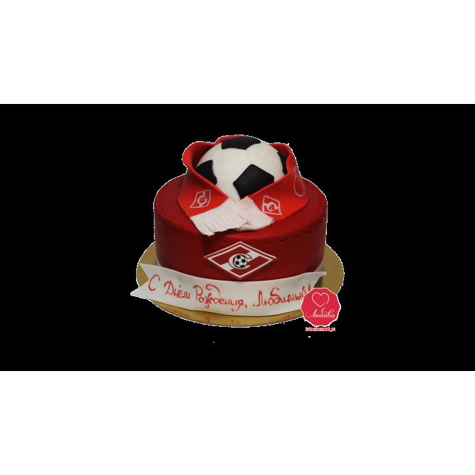 Торт Футбольный мяч спартак №1066