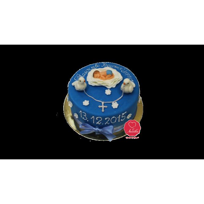 Торт на Крещение мальчику №1109