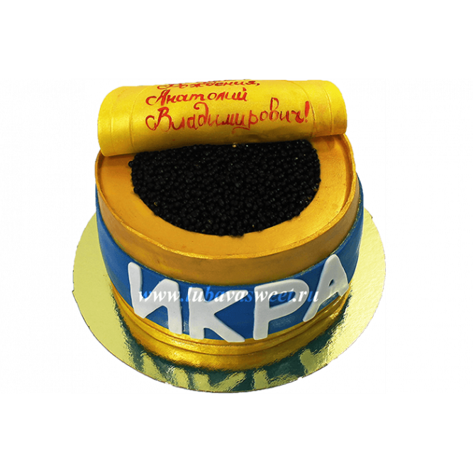 Торт Бочонок с икрой №606