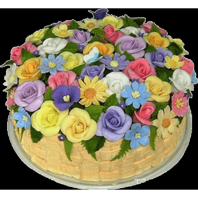 Торт Корзина цветов №761