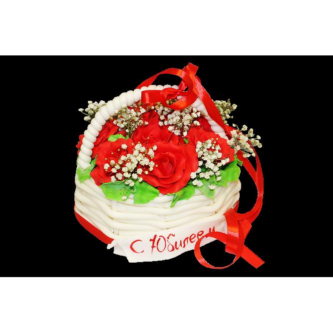 Торт Корзина с цветами №167