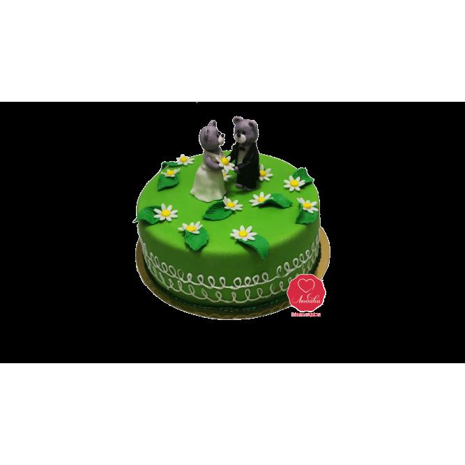 Торт свадебный Мишки №1013