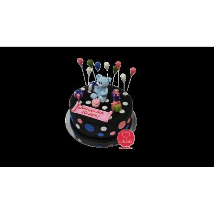 Торт Мишка с шариками №1049
