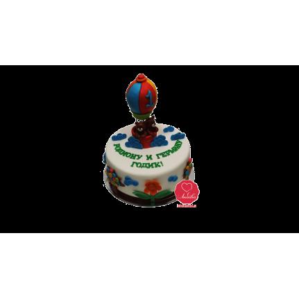 Торт Медведи на воздушном шаре №943