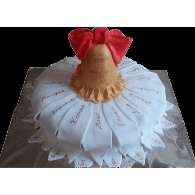 Торт Колокольчик с красным бантом №580
