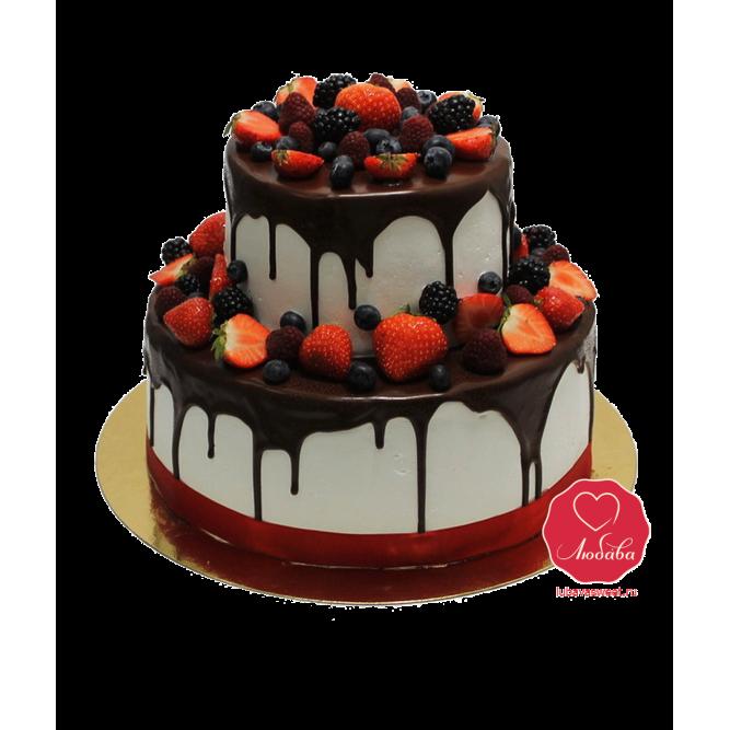 Торт Ягодный с шоколадом №928