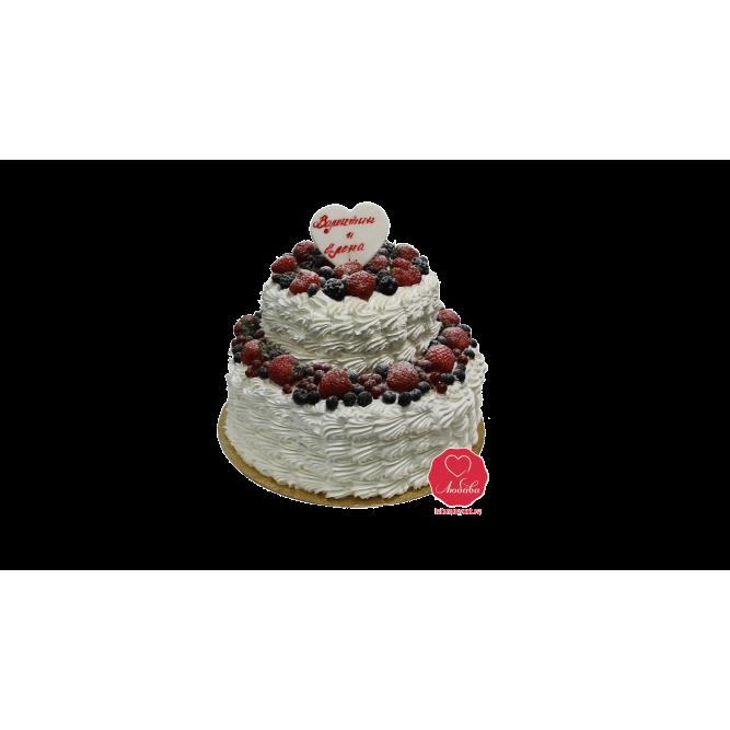 Торт Ягодный со сливками №955