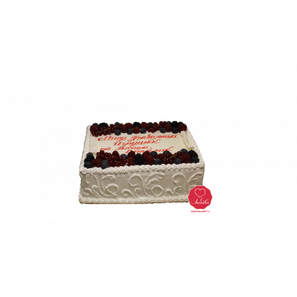 Торт Ягодный с посланием №1064