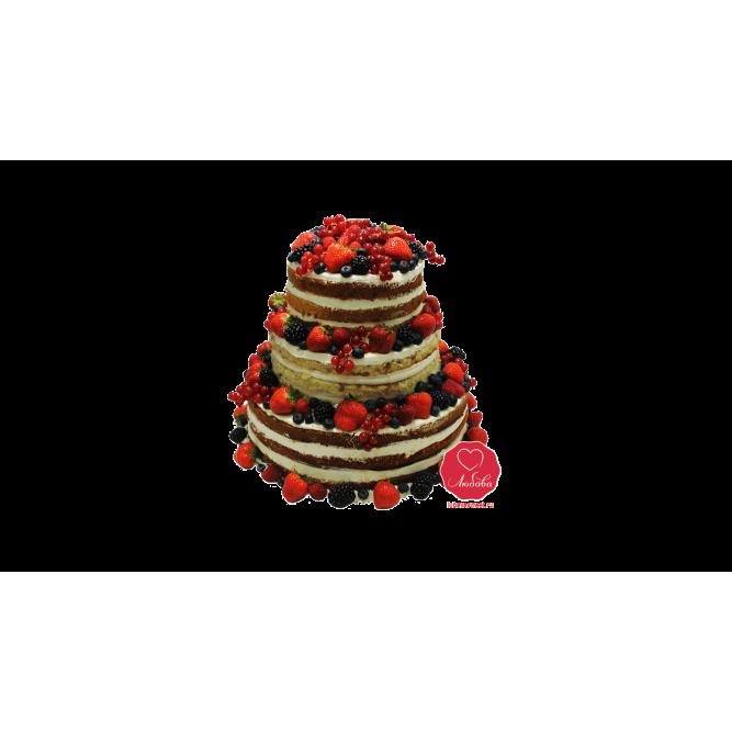 Торт Ягодная башня №978